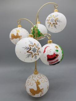 SET OF HAPPY CHRISTMAS BAUBLES