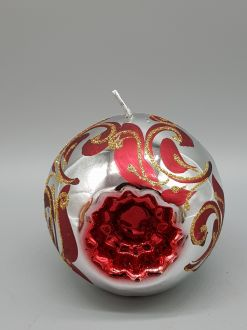 CHRISTMAS BAUBLE SILVER CANDLE