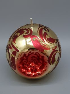 CHRISTMAS BAUBLE GOLD CANDLE