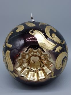 CHRISTMAS BAUBLE BLACK CANDLE