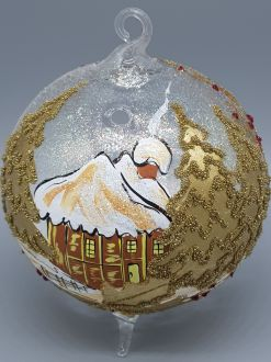 GOLDEN WINTER COTTAGE LAMPION