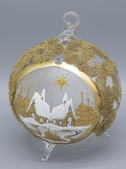 GOLDEN WINTER CHURCH LAMPION